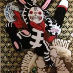 いってんJump『髑髏兎』アクリルガッシュ、千代紙 (2012.4)