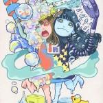 『リンプーちゃん』リンスinシャンプー擬人化 アクリルガッシュ(2012.6)