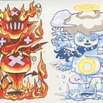天使と悪魔 アクリルガッシュ(2014.8)